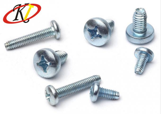 Phillips Drive Triangle Pan Head Self Tapping Screws With Blue White Zinc Plated