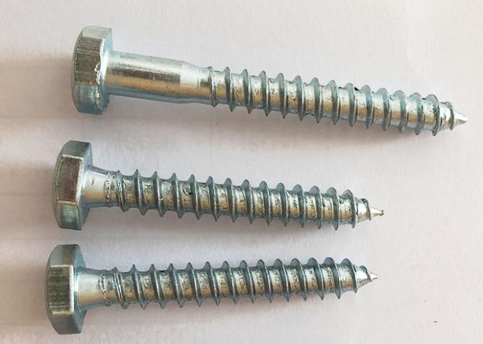 Carbon Steel Blue Zinc Hex Head Self Tapping Screw
