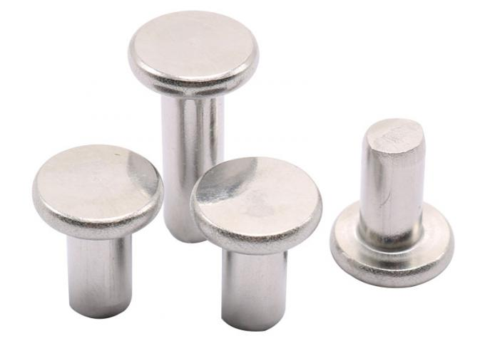 Hardware Fasteners Steel Rivet Nuts Flat Head Steel Rivets With Nominal Diameters