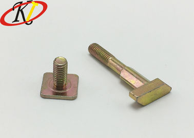 China Yellow Zinc Plated Square Head T Head Steel Specialty Bolts Grade 5.8 supplier