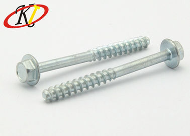 China Flat Point Hexgon Washer Head Self Drilling Tapping Screws With Zinc Plated supplier