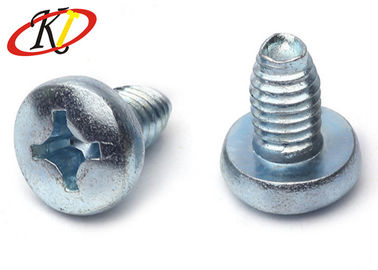 China Phillips Drive Triangle Pan Head Self Tapping Screws With Blue White Zinc Plated supplier