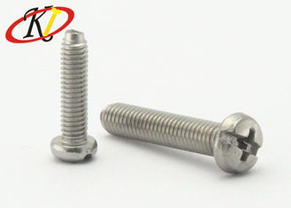 China Complex Drive Steel Machine Screws Pan Head Iso9001 Sgs With Full Thread supplier