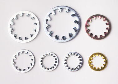China Yellow Zinc Plated Internal Shakeproof Washers / Internal Tooth Lock Washers supplier
