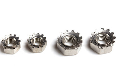 China Metric Stainless Steel Nuts Keps Lock Nuts K Nut Fastener With Coarse Thread supplier