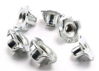 China #10-24 4 Pronged Tee Zinc plated Nuts For Wood Parts Stainless Steel Tee Nuts Fasteners supplier