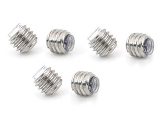 China Alloy Steel Headless Set Screw Full Dog Point Set Screw Zinc Plated Finish supplier
