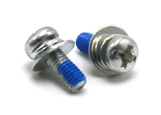 China Coarse Thread Type Pan Head Sems Screw With Flat Washer / Spring Washer supplier