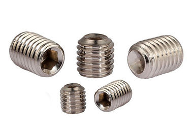 China Small Size Hexagon Socket Set Screws With Flat Point Machine Thread Type supplier
