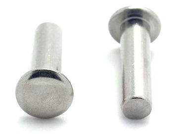 China DIN 660 Standard Stainless Steel Rivets Round Head Solid Aluminum Rivets supplier