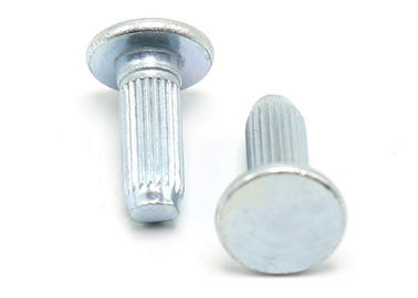 China Blue Zinc Finish Stainless Steel Rivets Round Flat Head Solid Rivet 10mm Length supplier