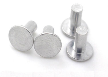 China Grade 4.8 Flat Round Head Steel Rivets Metal Rivets For Steel OEM / ODM Available supplier