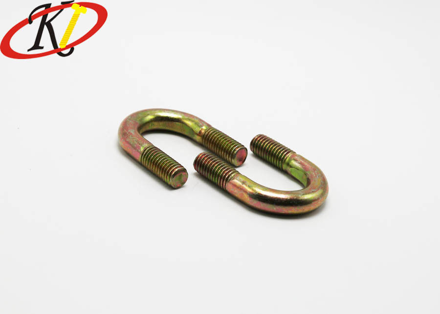 Customized Size Stainless Steel Bolts Yellow Zinc Plated Round U Bolts
