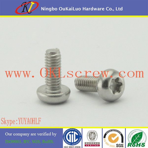 torx machine screws stainless