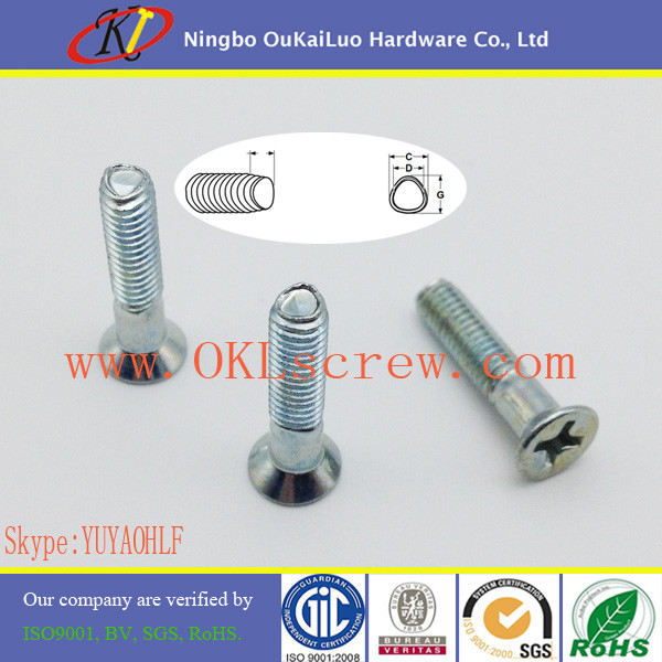 Phillips Countersunk Taptite Thread Forming Screws for Sheet Metal