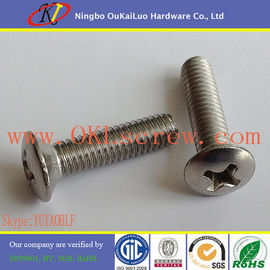 Stainless Steel Phillips Oval Head Machine Screws