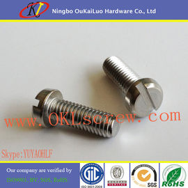 DIN 84 Stainless Steel Slotted Cheese Head Machine Screws