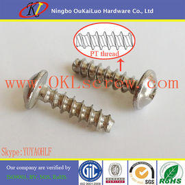 Phillips Truss Head with Flange Stainless Steel PT Screws for Thermoplastic