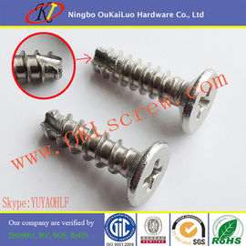 Phillips Flat Head Stainless Steel Thread Cutting Screws for Plastic