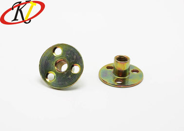 Yellow Zinc Coating Stainless Steel Nuts Round Base T Nuts Fasteners