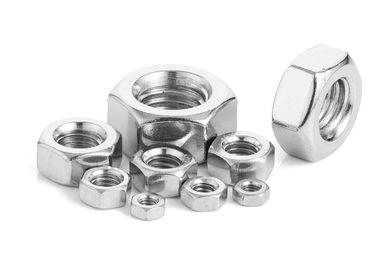 18-8 Stainless Steel Hex Nuts Ss Hex Nut Unc Hex Nut OEM / ODM Available