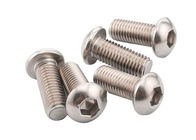 Stainless Button Head Machine Screw / Hex Button Head Screw Galvanized Finish