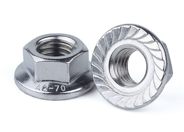 Galvanized 10mm Stainless Steel Nuts M6 Fine Thread Serrated Hex Flange Nut