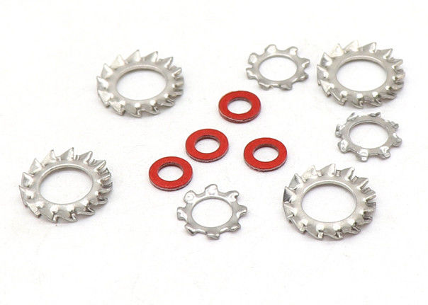 Zinc Plated High Strength Serrated Lock Washers Metal Toothed Lock Washers with External Teeth
