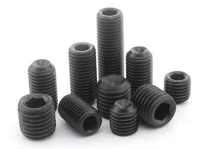 Small Size Hexagon Socket Set Screws With Flat Point Machine Thread Type