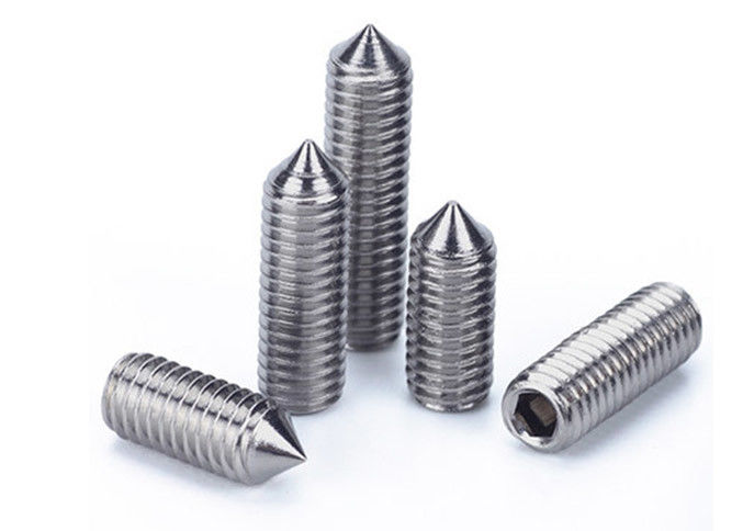 Din 914 Iso 4027 Headless Set Screw Hex Socket Cone Point Bolt SS Material