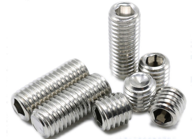 Professional Hexagon Socket Set Screw With Cup Point Stainless Steel 18-8 Material