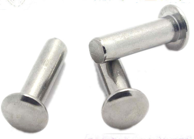 DIN 660 Standard Stainless Steel Rivets Round Head Solid Aluminum Rivets