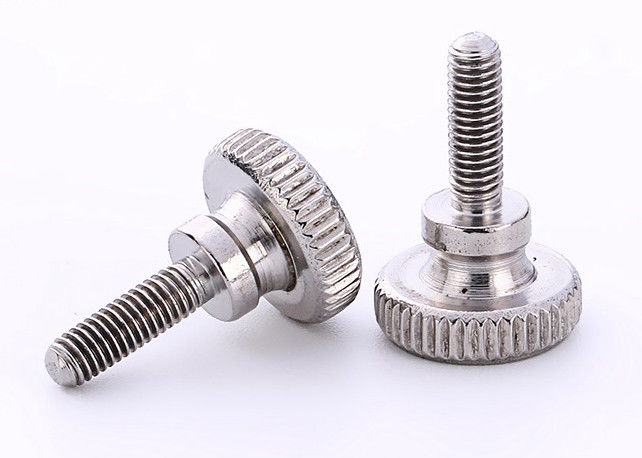 Nickel Plated Knurled Head Thumb Screws / Knurled Thumb Screws Stainless Steel