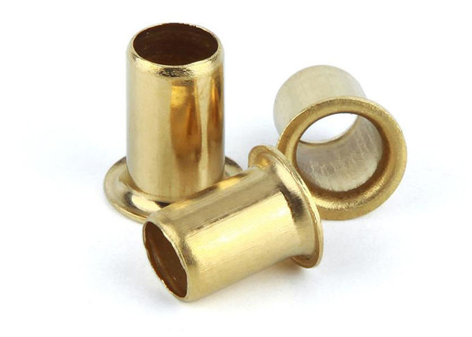 Zinc Plated Open End Through Hole Hollow Tubular Rivets / Copper Stainless Steel Hollow Rivets