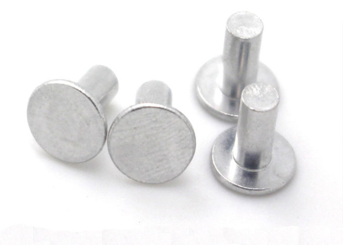 Grade 4.8 Flat Round Head Steel Rivets Metal Rivets For Steel OEM / ODM Available
