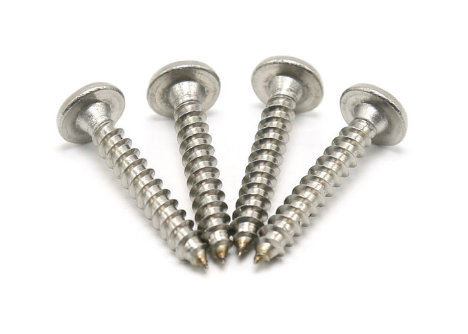 Stainless Steel Phillips Square Drive Self Tapping Screws Bright Surface